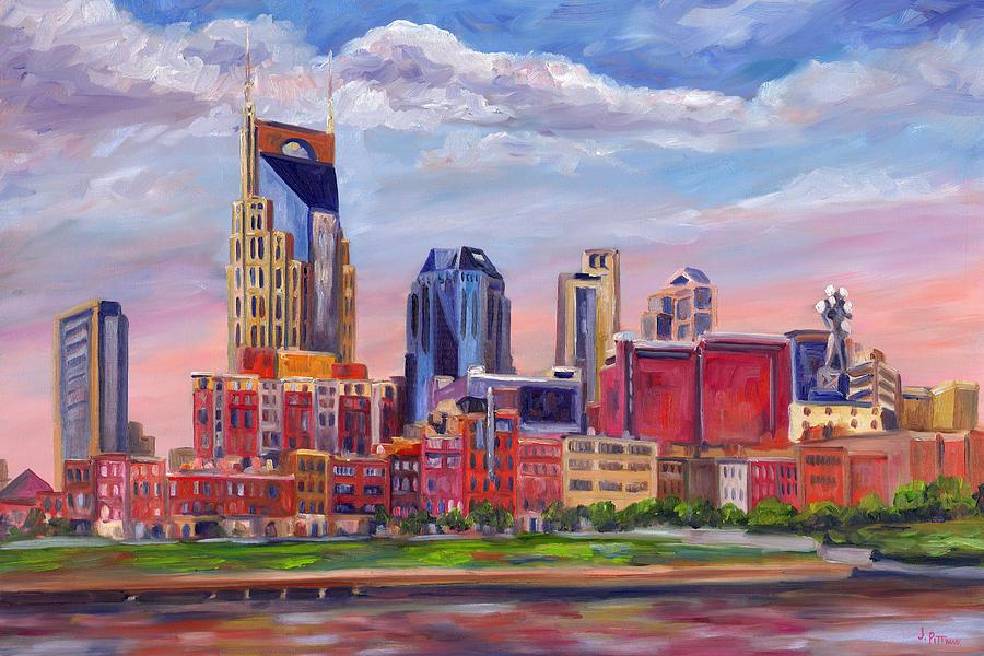 Nashville Skyline Painting - Nashville Skyline Painting by Jeff Pittman
