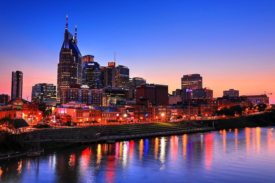 Night Lights Photograph - Nashville Southern Nights by Carol Montoya
