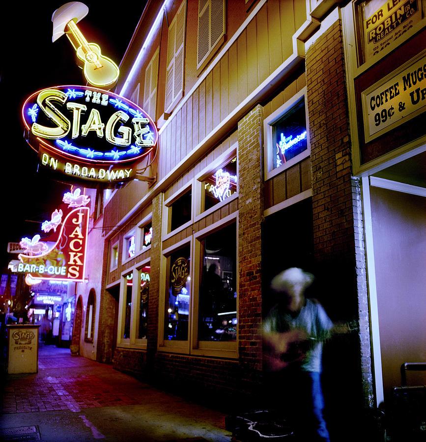 Nashville Photograph - Nashville Street Musician by Todd Fox