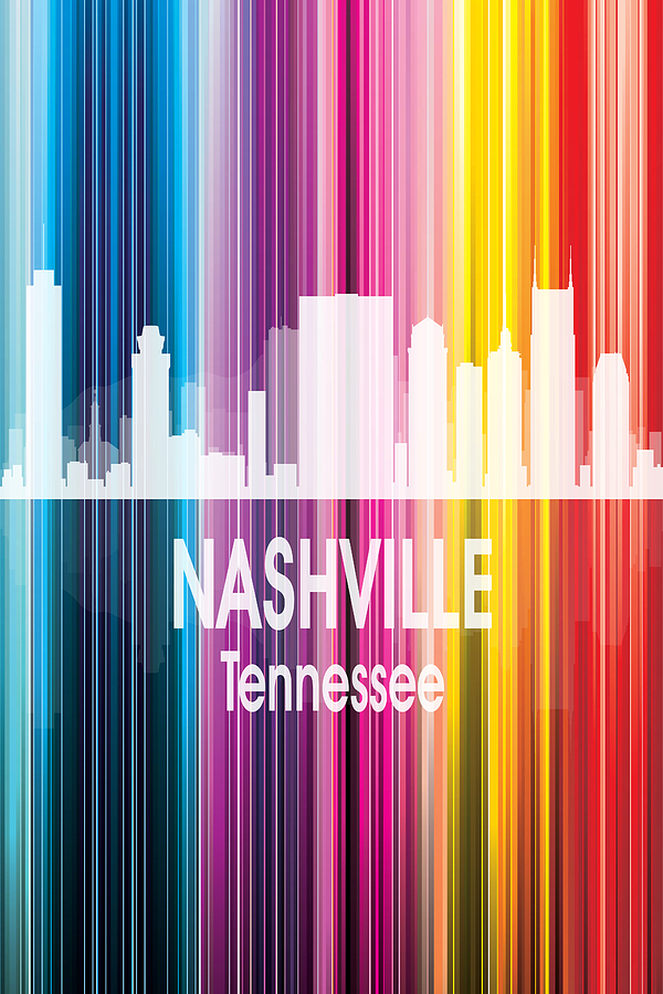 Nashville Digital Art - Nashville Tn 2 Vertical by Angelina Tamez