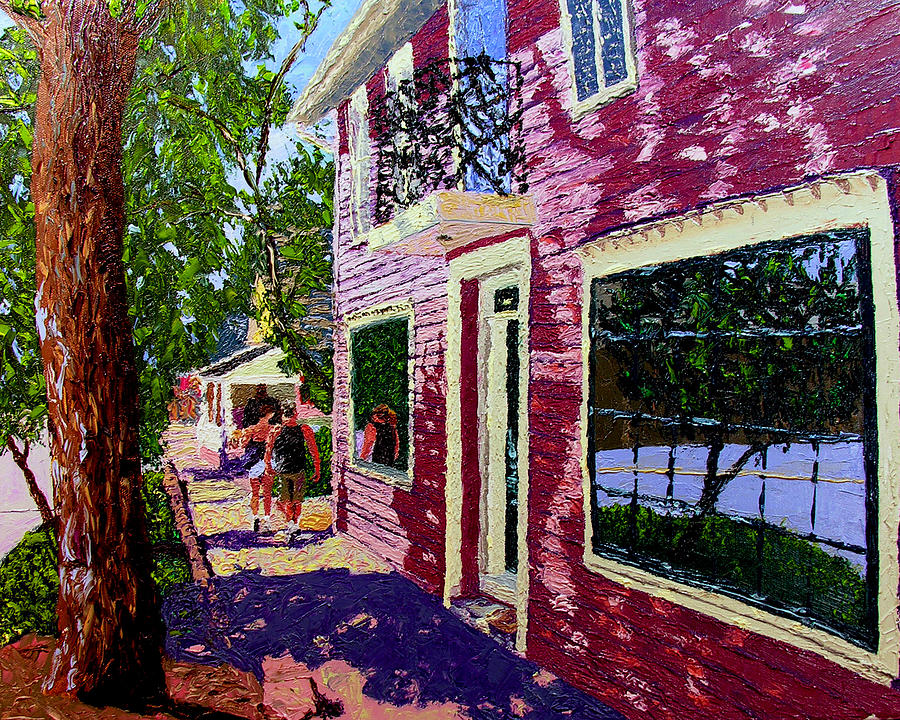 Pallet Knife Painting - Nashville Upside Down by Stan Hamilton
