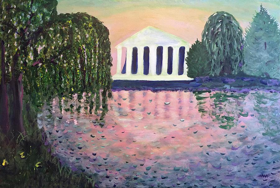 Landscape Painting - Nashvilles Centennial Park by Maura Satchell