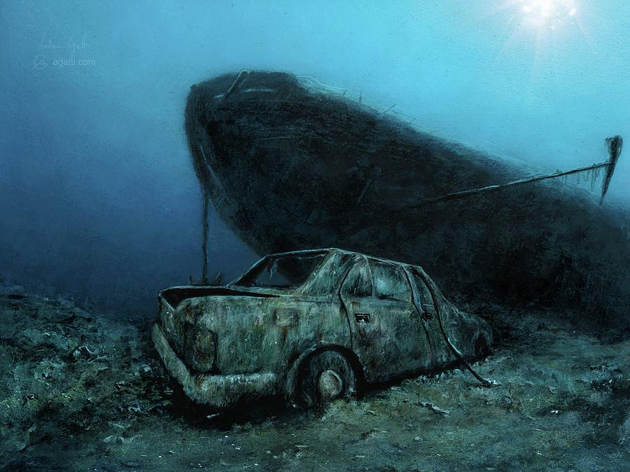 Nasim Ship Wreck Digital Art