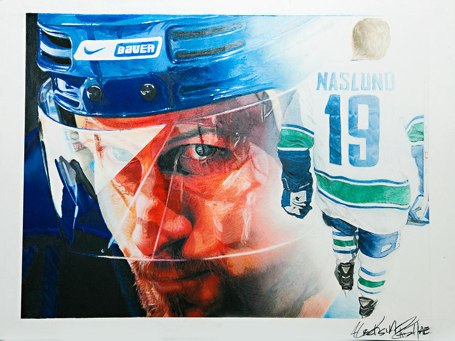 Hockey Painting - Naslund by Raymond Potts