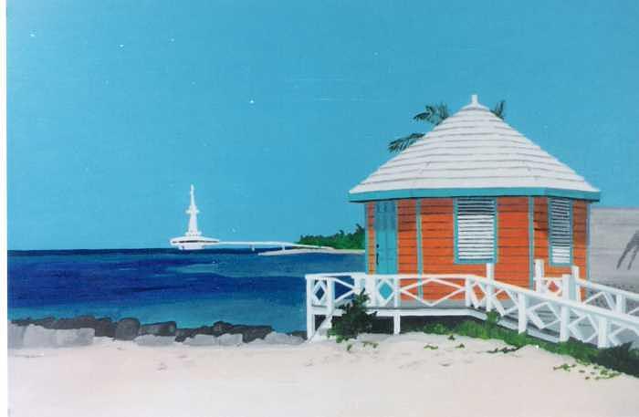 Nassau Auqarium Painting by David Ellis