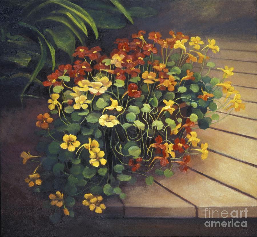 Flowers Painting - Nasturtium by Natasha Harsh
