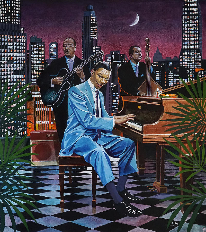 Nat King Cole Painting - Nat King Cole - After Midnight by Jo King