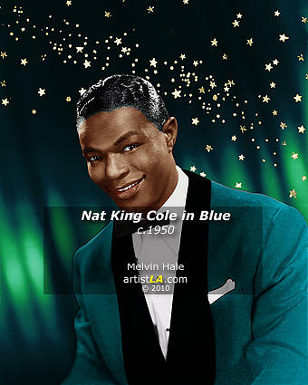 Painting Painting - Nat King Cole In Blue C1950 by Melvin Hale ArtistLA