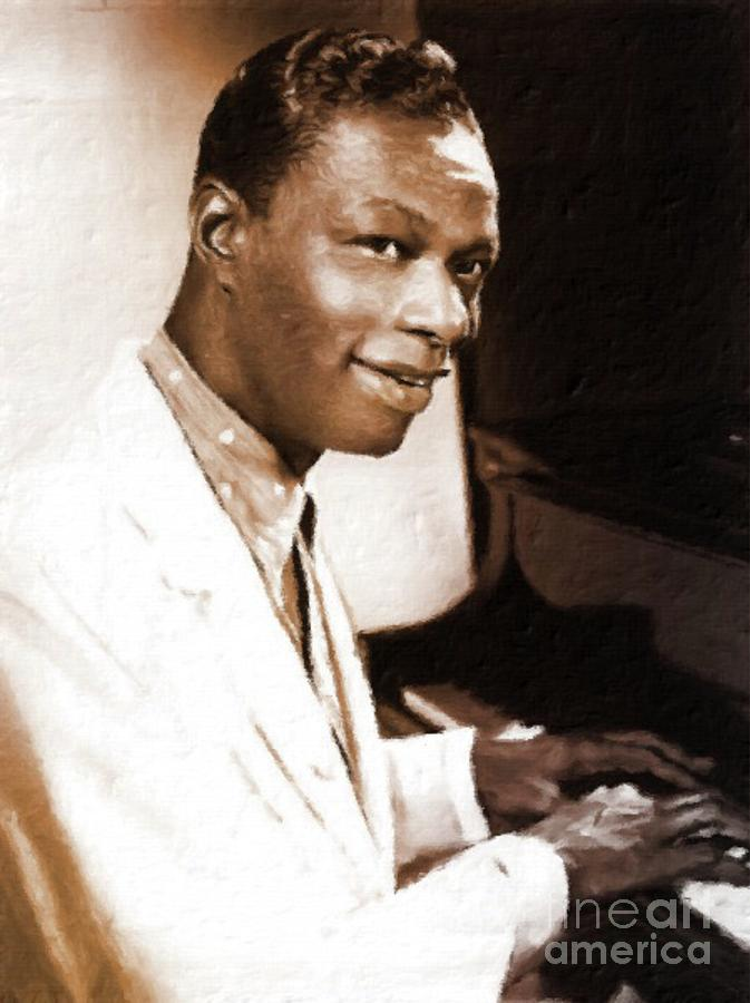 Nat King Cole, Singer Painting