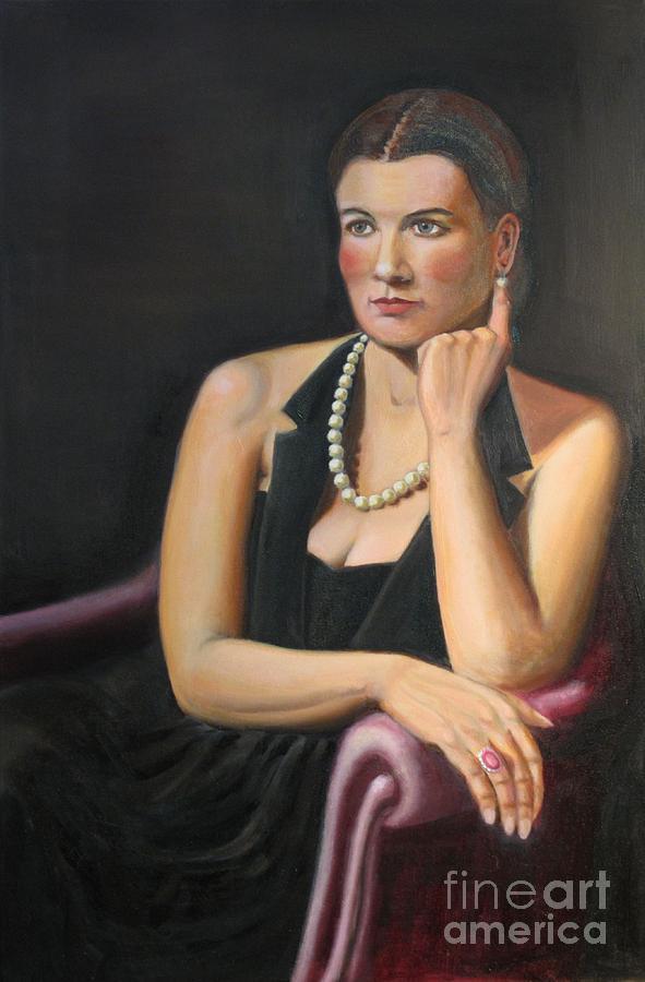 Portrait Painting - Natalie by Bruce Lum
