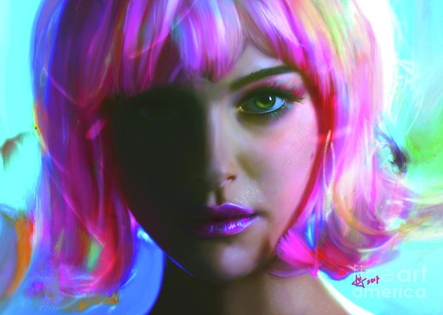 Portrait Digital Art - Natalie by Jaimy Mokos
