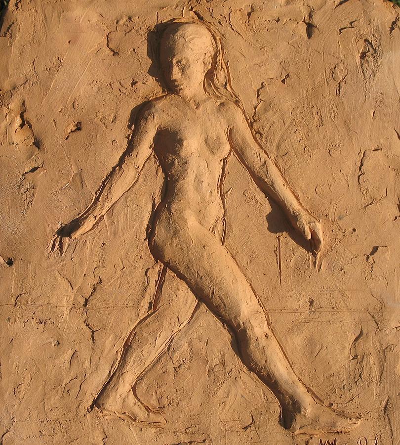 Relief Sculpture - Natalie Walking by Jammie Williams