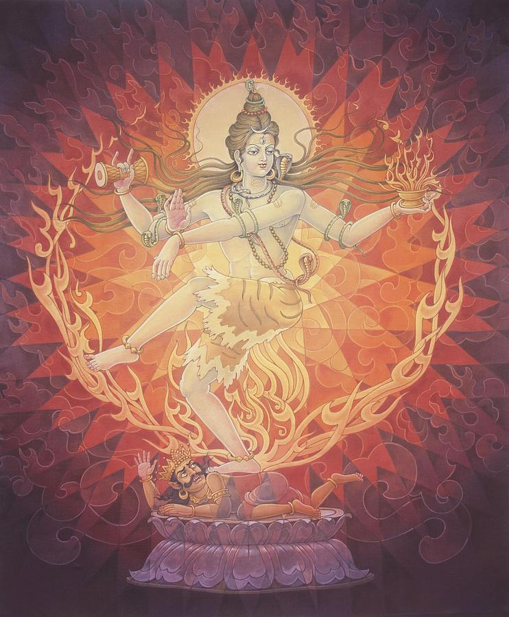 Gods Painting - Nataraja Shiva by Pieter Weltevrede