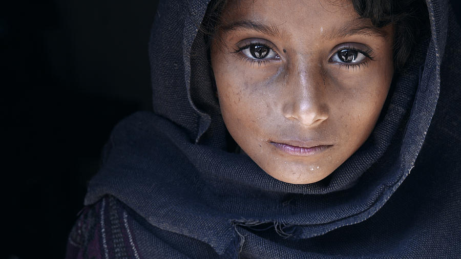 Street Photograph - Natayah - A Girl From Nepal by Mohammed Baqer
