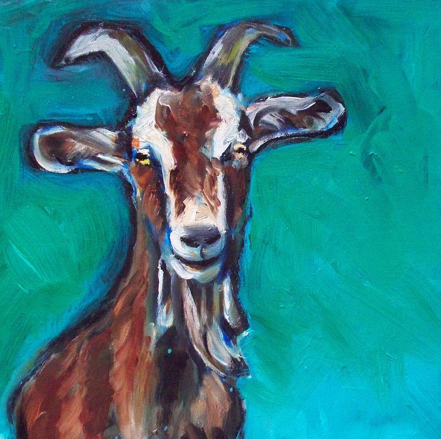 Goat Painting - Nate by Sheila Tajima