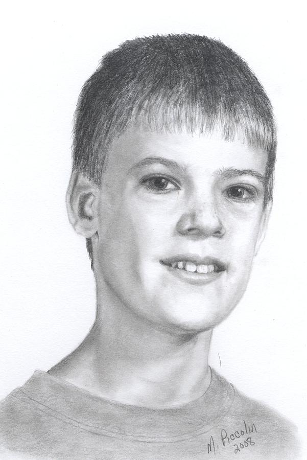 Boy Drawing - Nathan by Marlene Piccolin