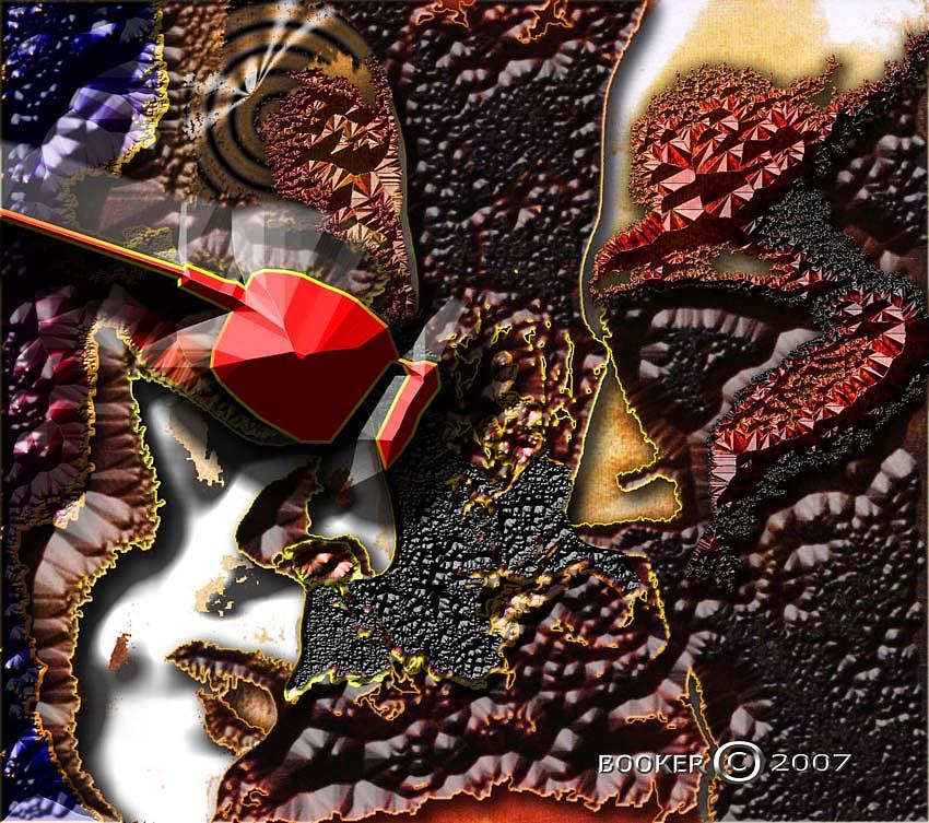 Contemporary Mixed Media - Nation Against Nation by Booker Williams