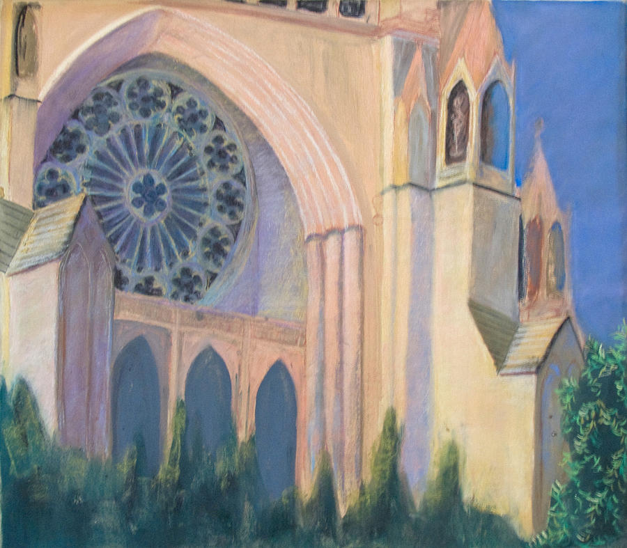 National Cathedral Pastel by Don Perino