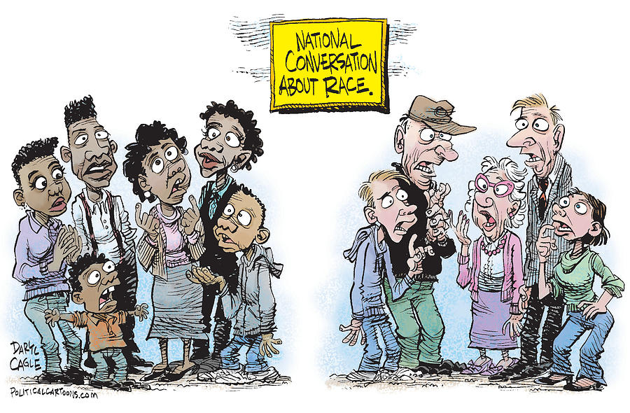 Ferguson Drawing - National Conversation About Race by Daryl Cagle