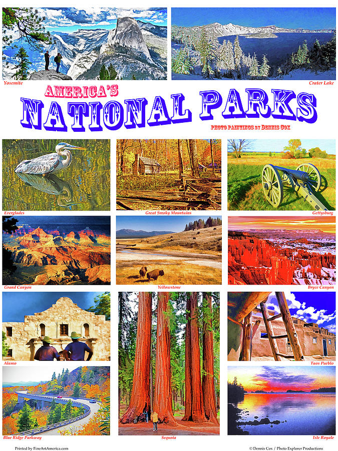 National Parks Poster Photograph