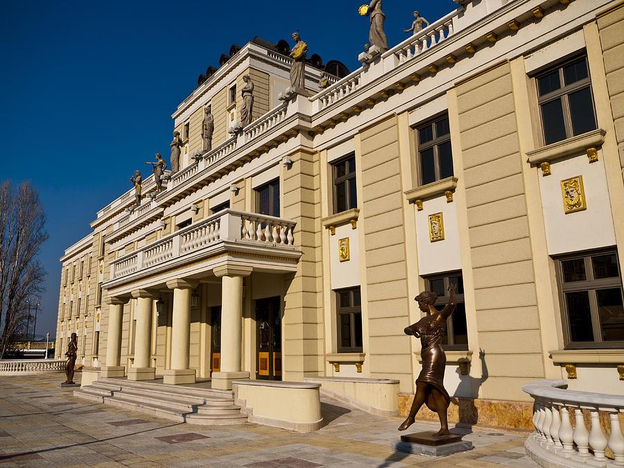 Skopje Photograph - National Theater In Skopje by Rae Tucker