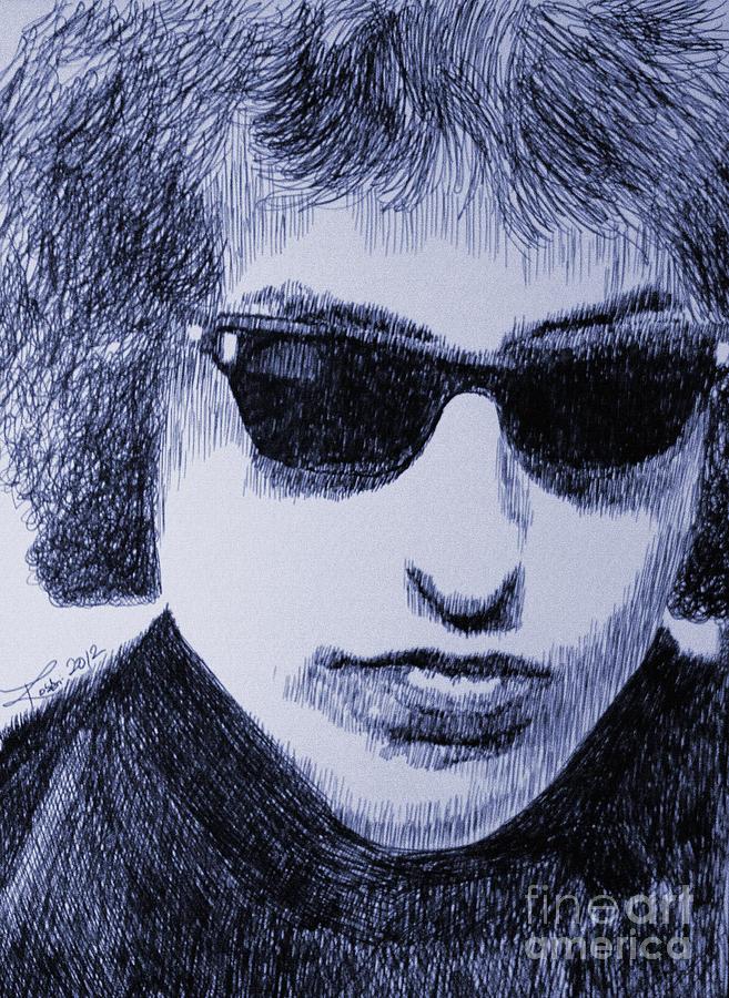 Bob Dylan Drawing - National Treasure by Robbi  Musser