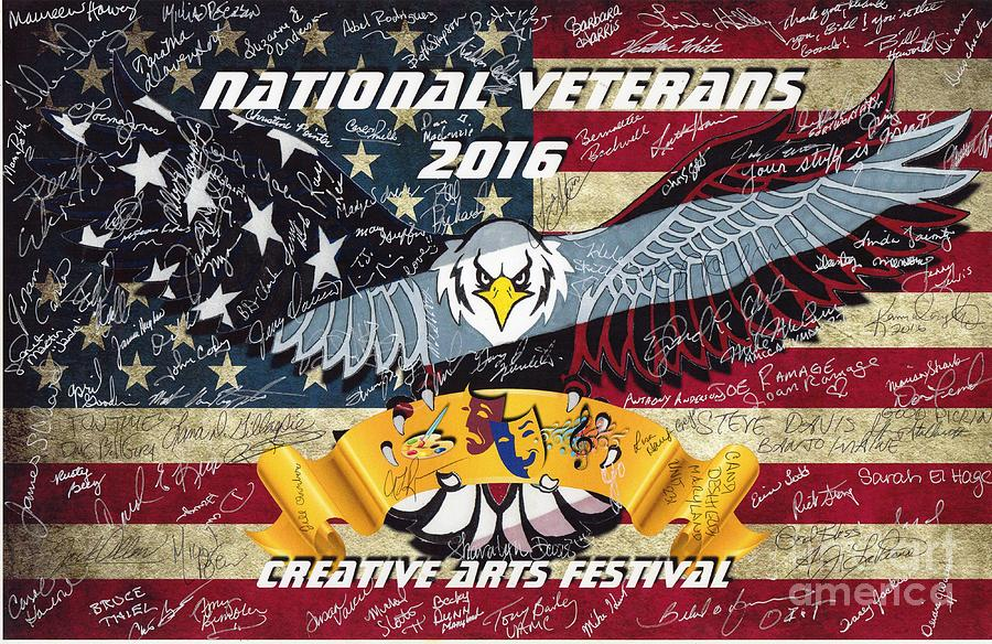 National Drawing - National Veterans Creative Arts Festival by Bill Richards