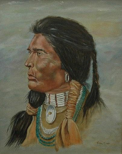 Indian Painting - Native American - Indian Chief by Tresa Crain