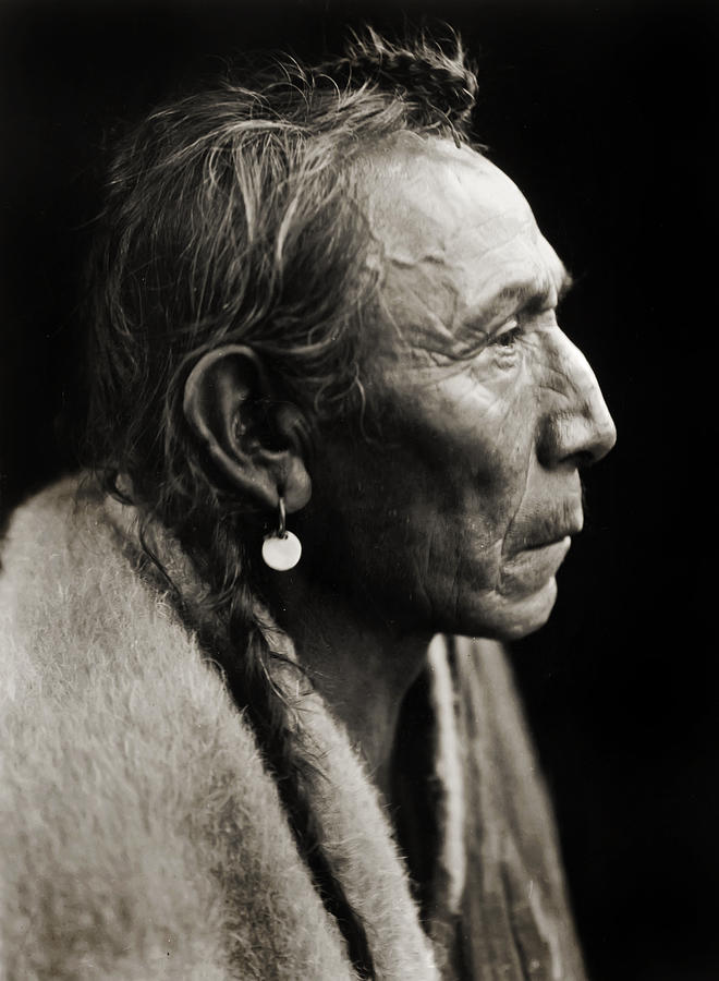 Edward Curtis Photograph - Native American Aki-tanni Two Guns by Jennifer Rondinelli Reilly - Fine Art Photography