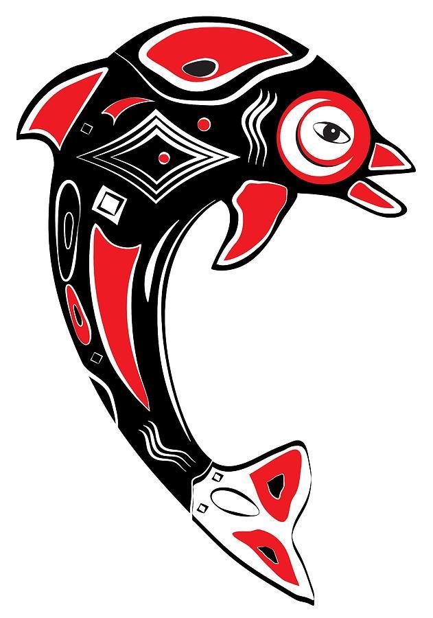 Native American Animal Dolphin Symbol Digital Art by ...