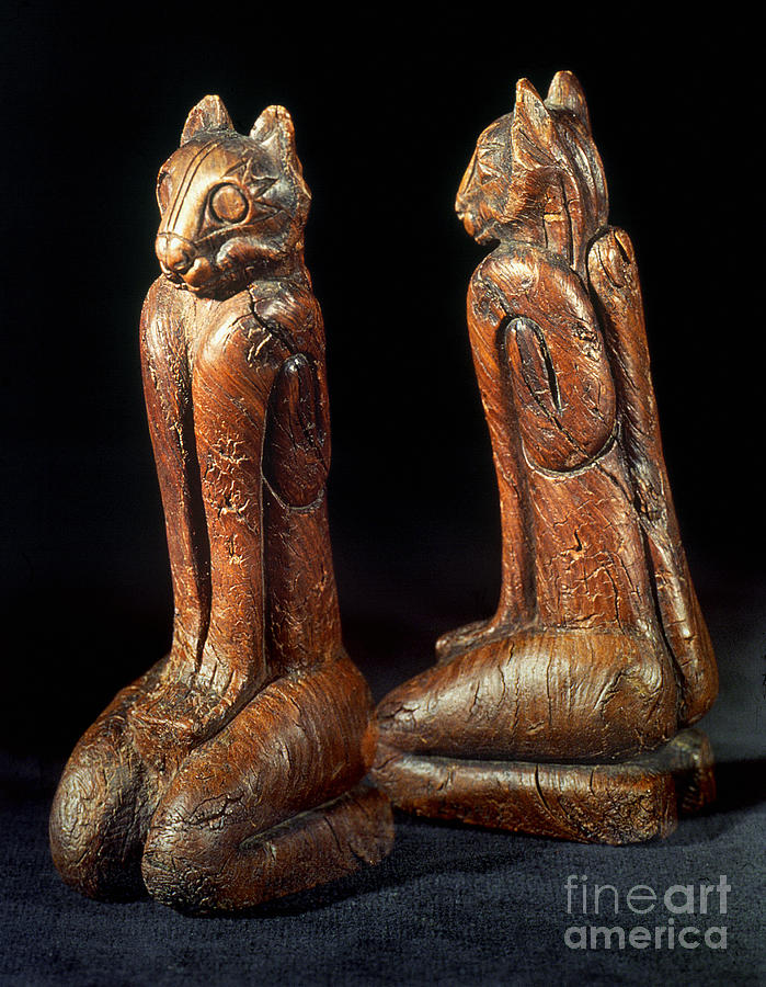 Aod Photograph - Native American Carvings by Granger