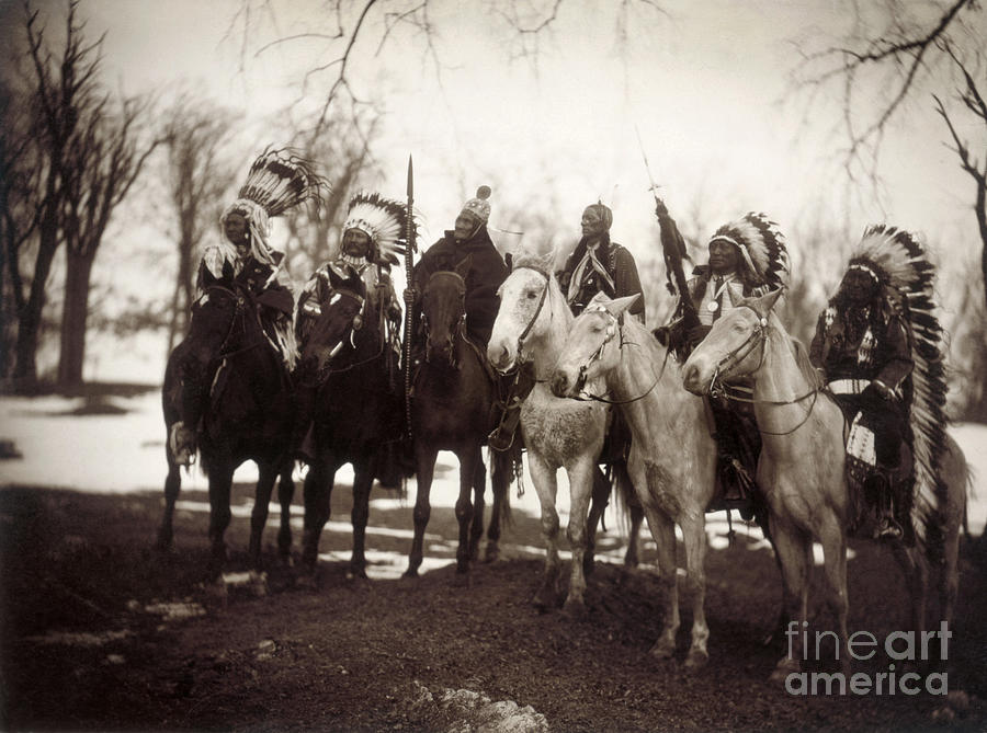 1900 Photograph - Native American Chiefs by Granger