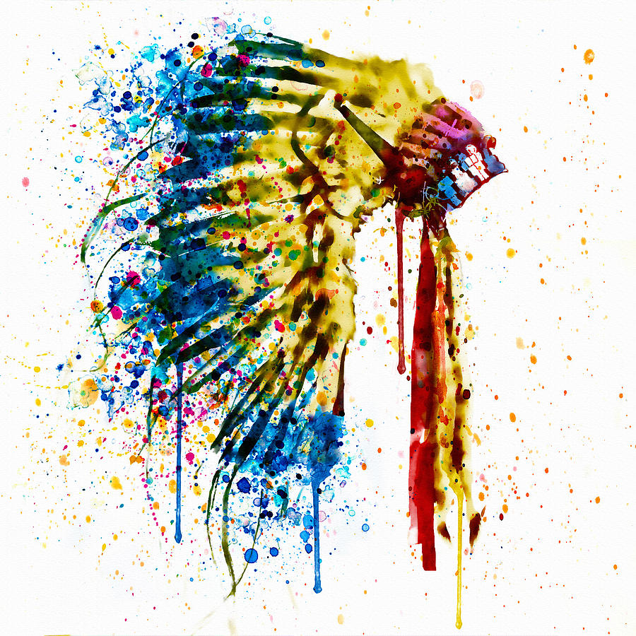 5431fb3c40c Native American Feather Headdress Painting by Marian Voicu