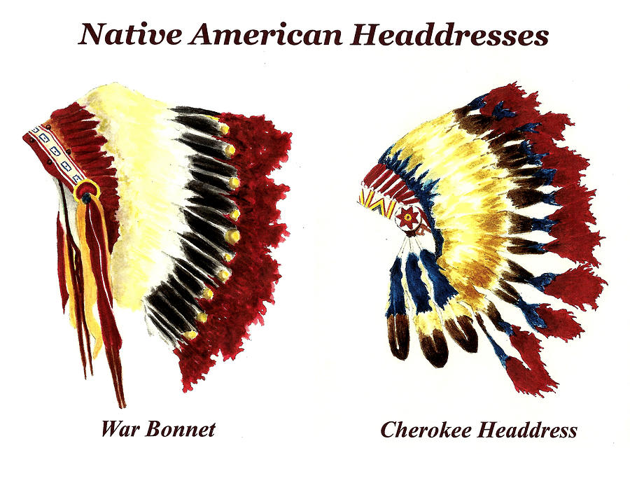 Native American Headdresses Painting