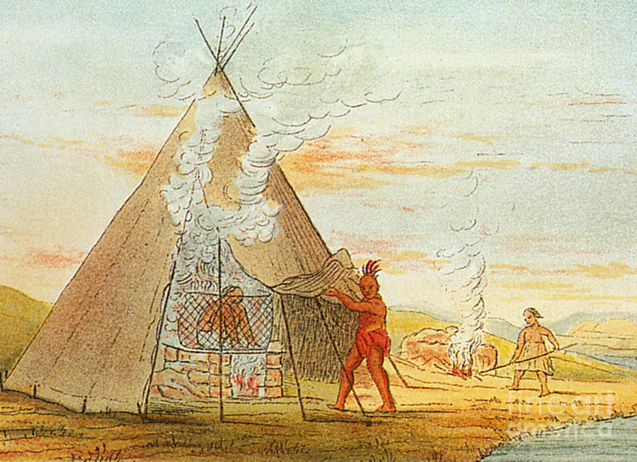Medical Photograph - Native American Indian Sweat Lodge by Science Source
