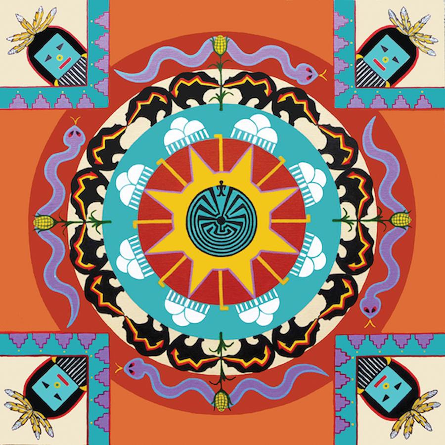 mandala painting native american mandala by barbara rockhold
