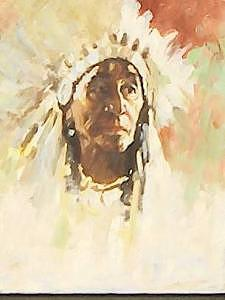 Painting Painting - Native American by Perry  Rubenstein
