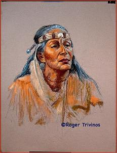 Native American Painting by Roger Trivinos