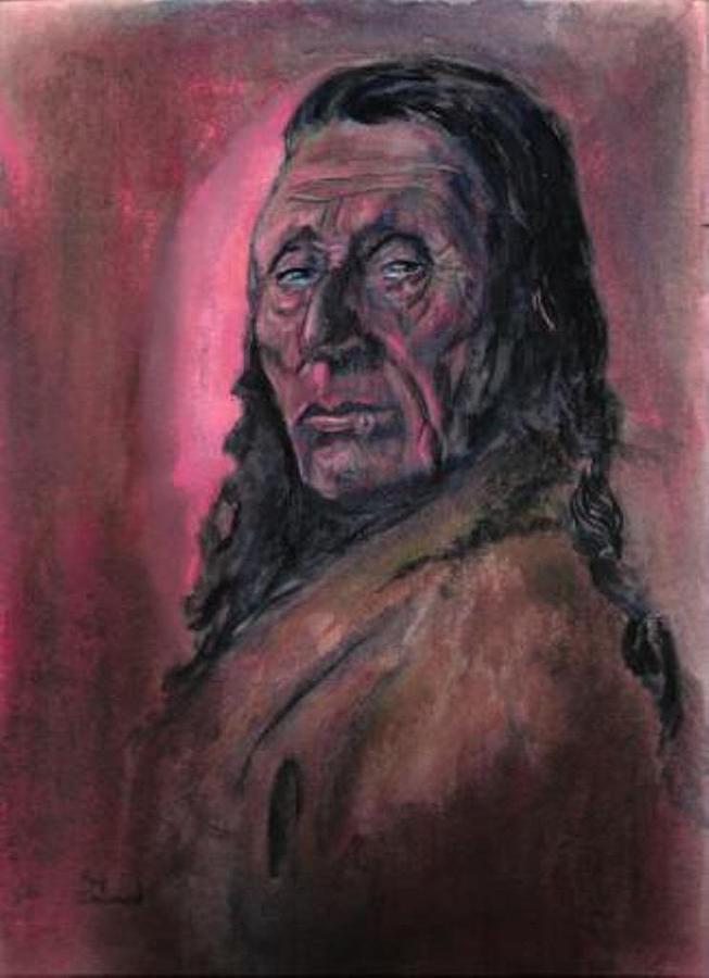 Native American Study Painting by Raymond Doward