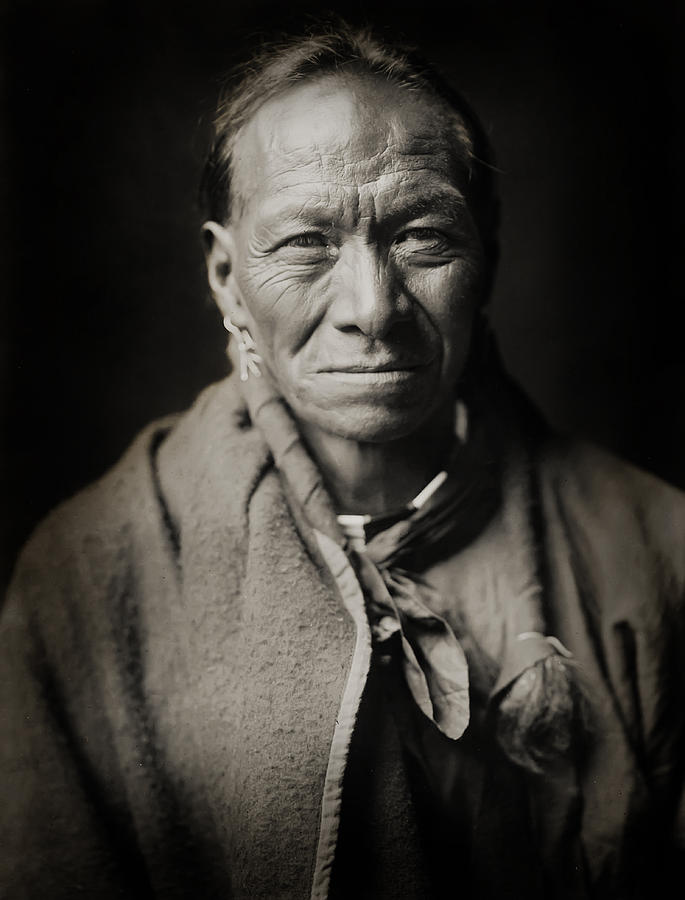 Edward Curtis Photograph - Native American Taos Indian White Clay by Jennifer Rondinelli Reilly - Fine Art Photography