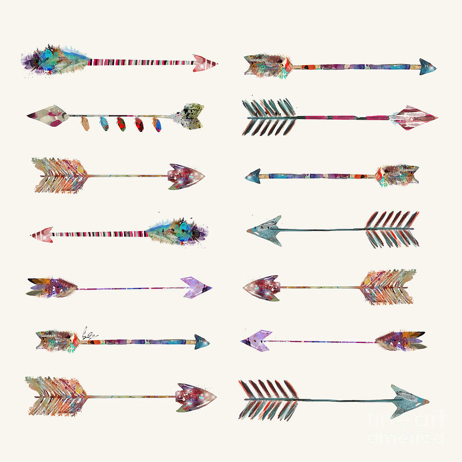 Arrows Painting - Native Arrows by Bri Buckley