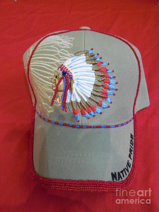 Beading Mixed Media - Native Beaded Hat by Magenta Marie Spinningwind