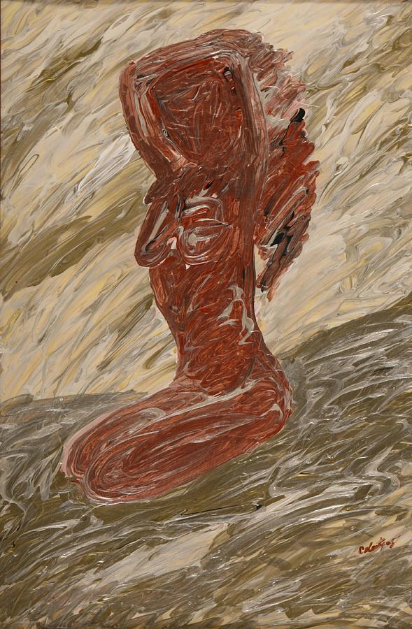 Sedona Painting - Native Beauty by Celesty  Claudio