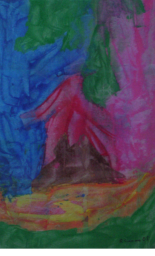 Abstract Painting - Native Hut by Russell Simmons