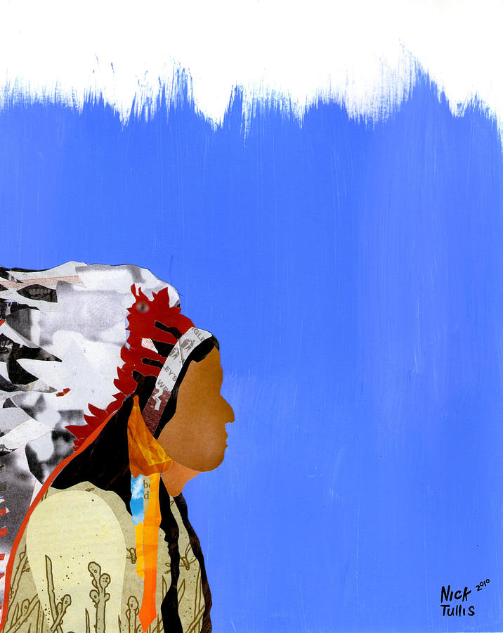 Indian Digital Art - Native by Nicholas Tullis