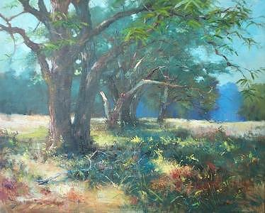 Native Pecans Painting by Bill Garrison