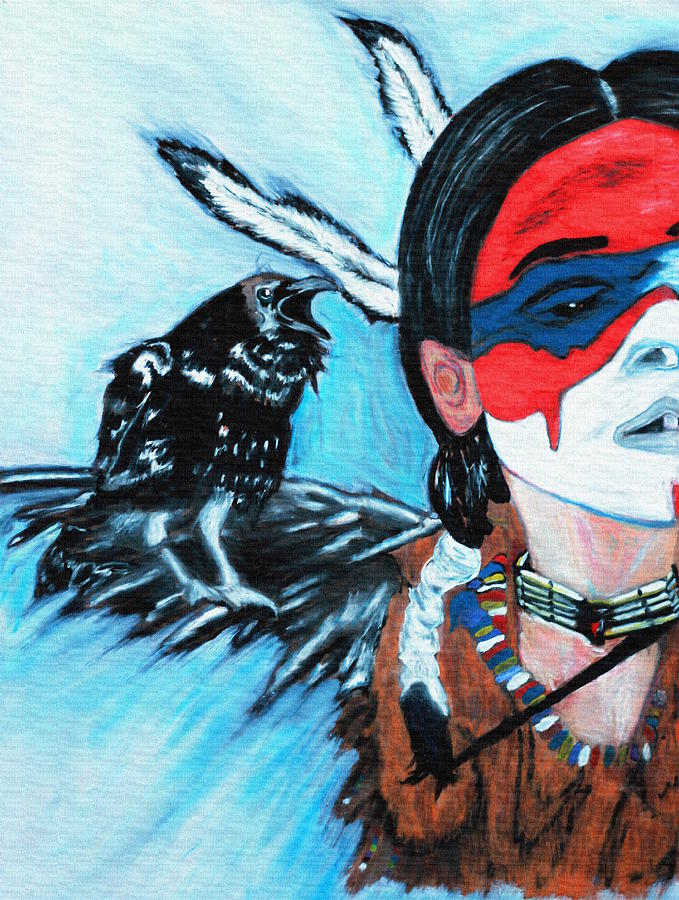 Native Raven Painting