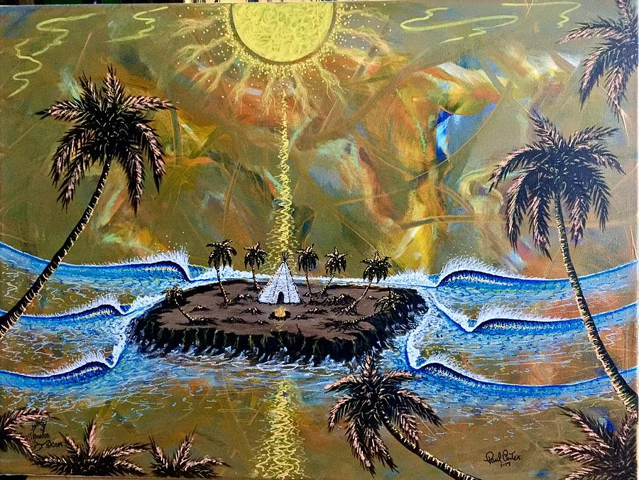 Native Painting - Native Sunset Dream by Paul Carter
