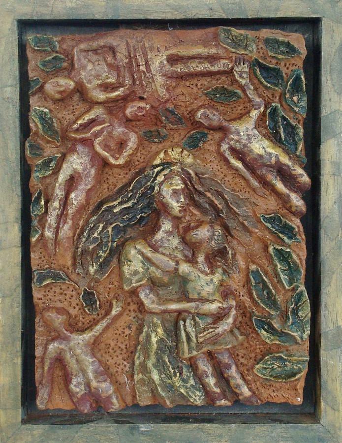 Clay Relief - Natividad 2 by Lorna Diwata Fernandez