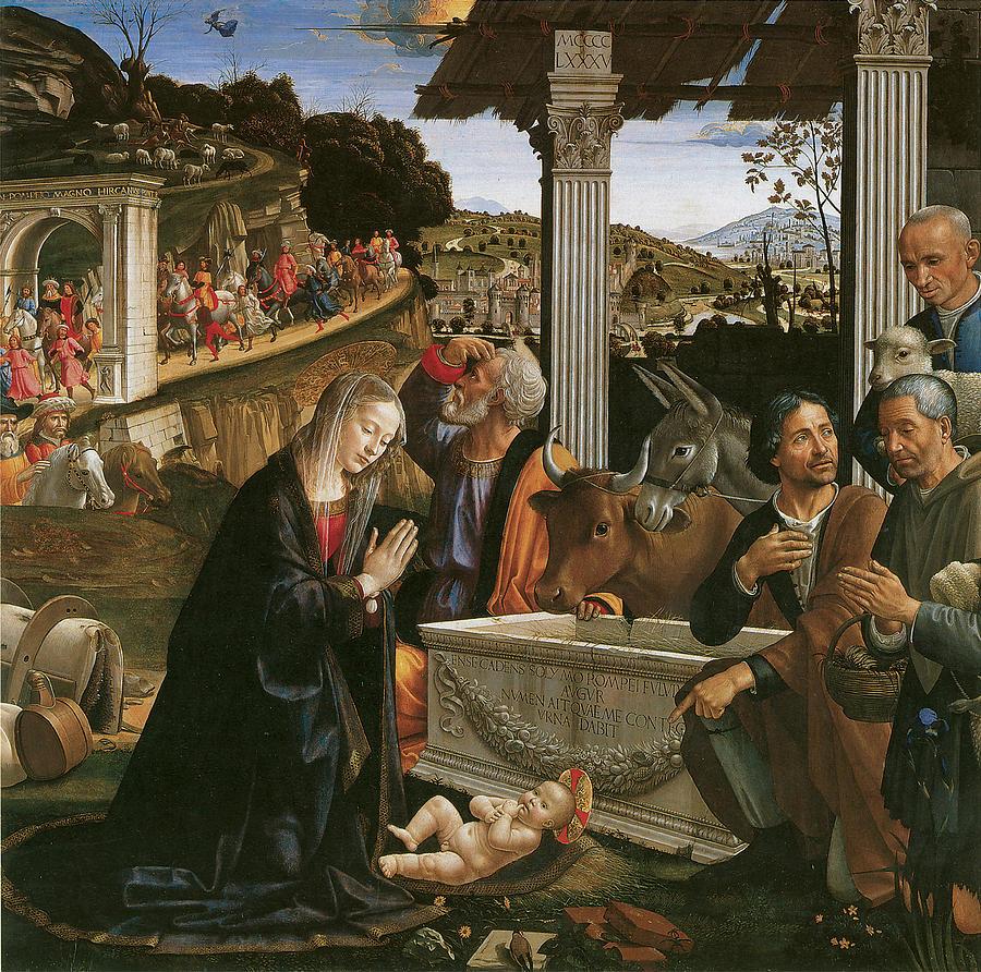 Nativity Painting - Nativity  by Domenico Ghirlandaio